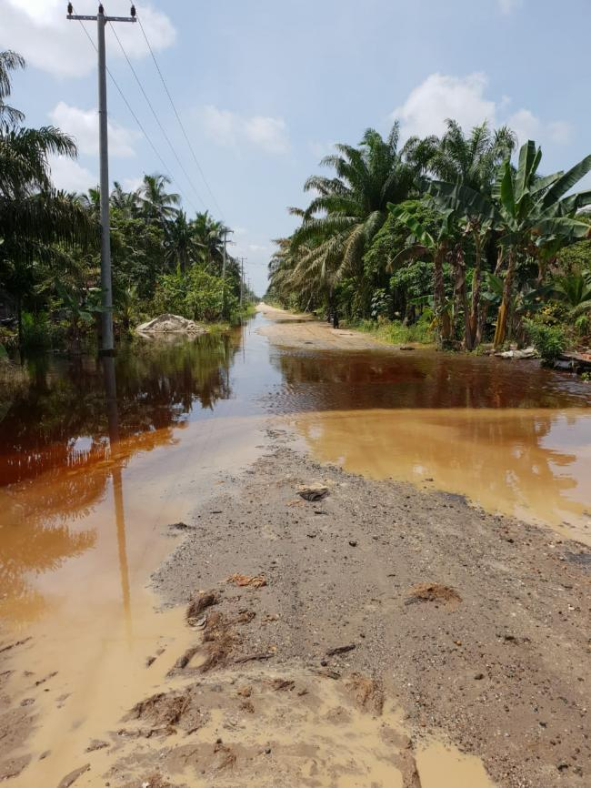 Banjir Melanda Kecamatan Keritang dan Kecamatan Kemuning Inhil