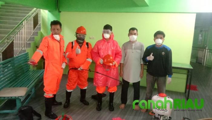 LazisMU Pekanbaru lakukan penyemprotan desinfektan ke beberapa lokasi