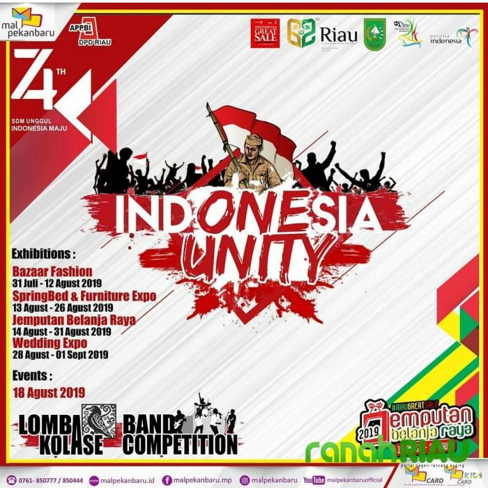 Indonesia Unity, Mal Pekanbaru sambut kemerdekaan