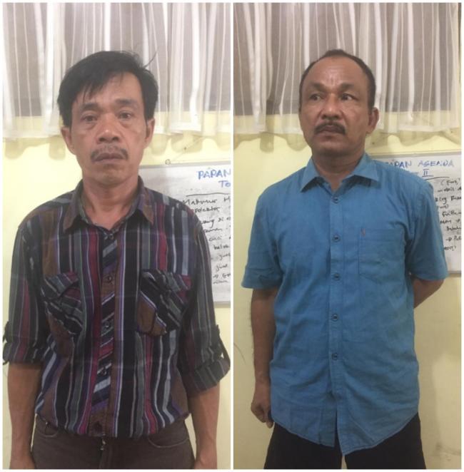 Dua pelaku Perjudian KIM Diciduk Polsek Siak Hulu