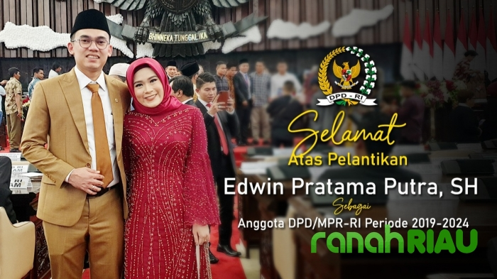 Usai Dilantik DPD RI, Edwin Pratama Putra Prioritaskan Kepentingan Riau