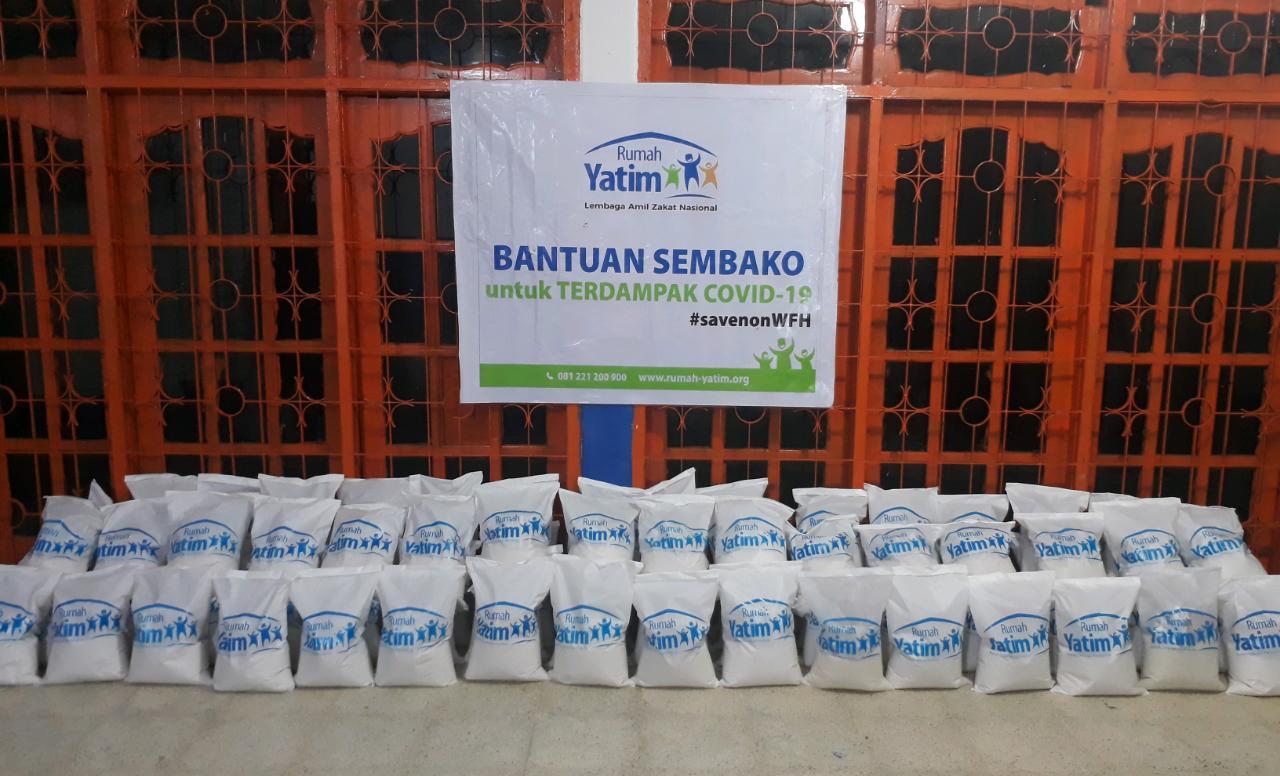 Ratusan Paket Sembako Siap Disalurkan Bagi Masyarakat Terdampak Covid 19