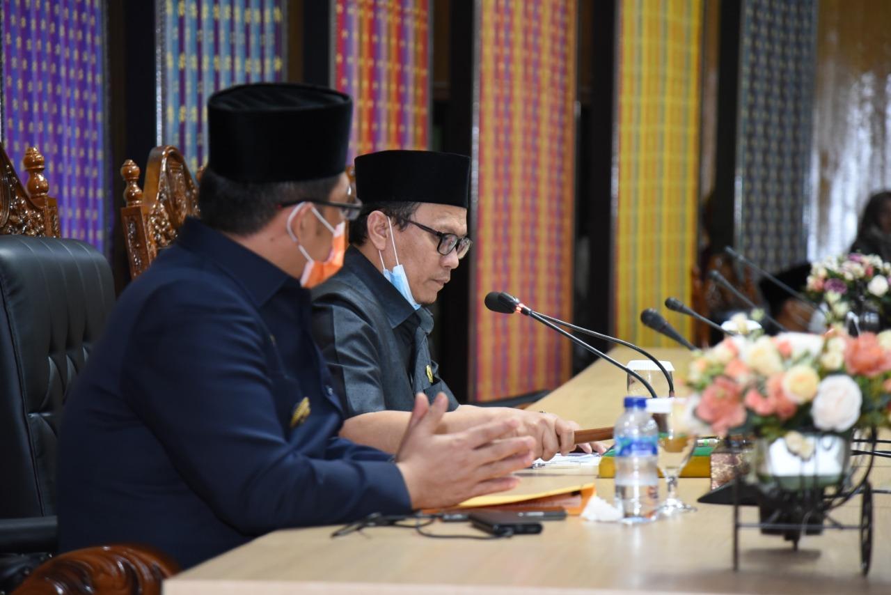 Paripurna DPRD Bengkalis Bahas Penyampaian Ranperda T.A 2021