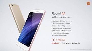 Woow... Xiaomi Redmi 4A Rilis