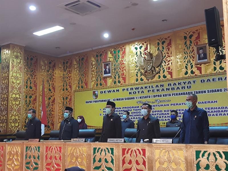 Paripurna DPRD Kota Pekanbaru Sepakati KUA - PPAS 2021 Sebesar 2,597 T