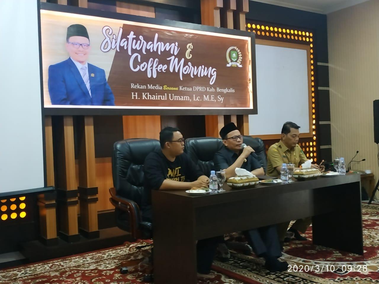 Ketua DPRD Bengkalis Gelar Coffe Morning, silaturahim Bersama Insan Pers