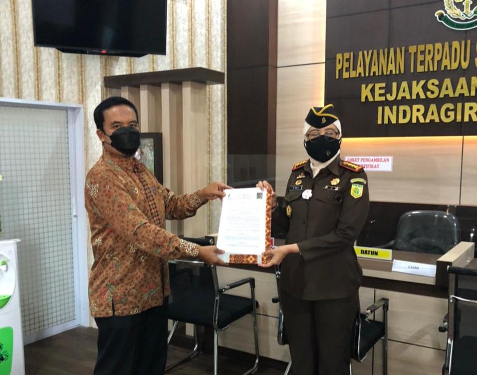 Kejari Inhil Terima Hibah Renovasi Ruang PTSP dari Sambu Group