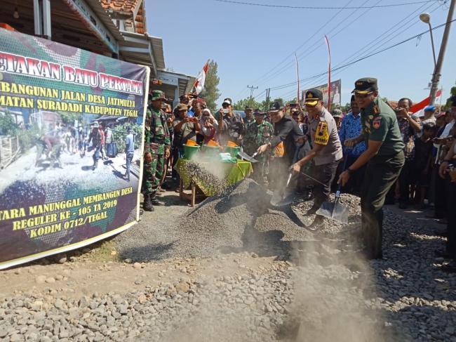 TMMD, Wabup Tegal Apresiasi Kinerja TNI
