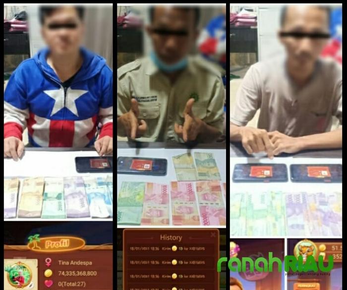 3 Orang Pelaku Transaksi Chip Game Online di Riau Ditangkap Polisi