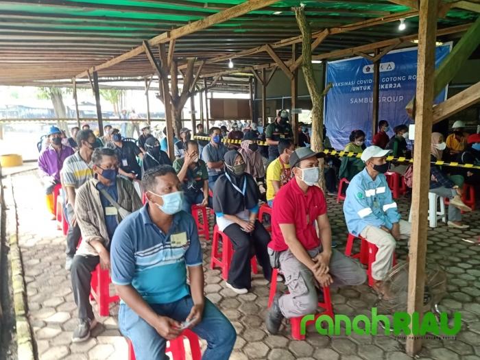 Sambu Group Gelar Serbuan Vaksin Gotong Royong Bagi Ribuan Pekerja