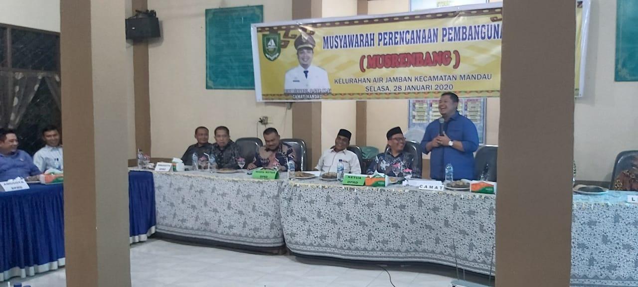 Musrenbang Mandau, Ketua DPRD Bengkalis Setuju 30,2 M Drainase Kota Duri