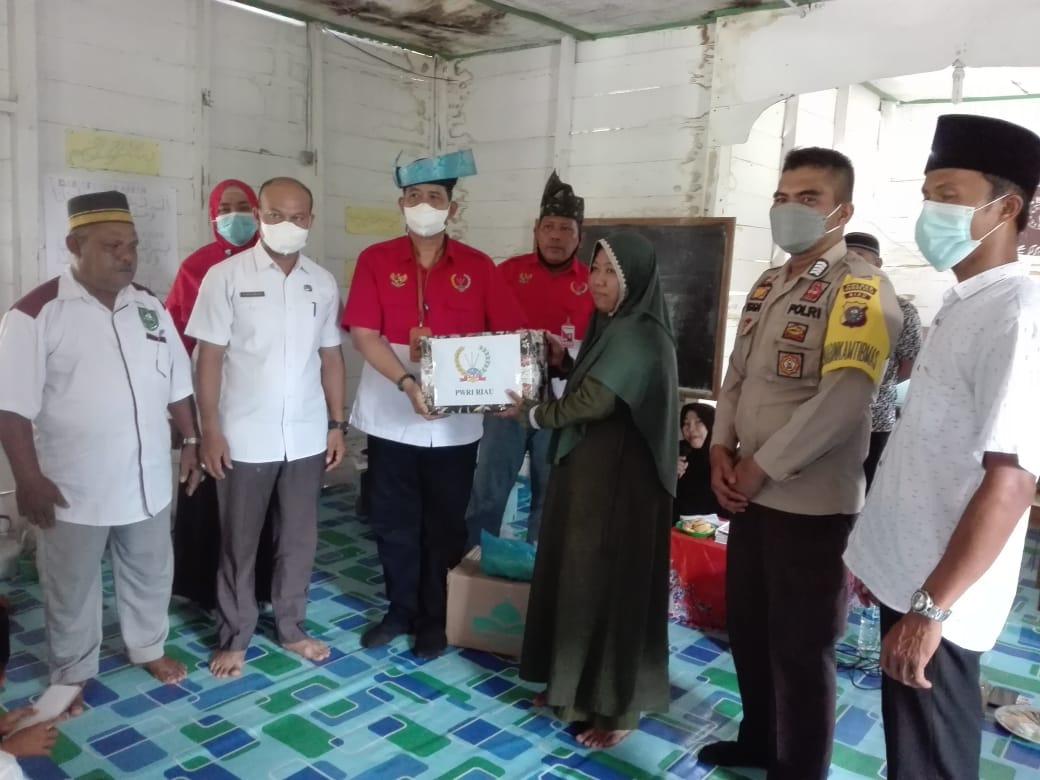 Kegiatan Baksos, MDTA An-Nisah Sidomulyo Bengkalis Ucapkan Terima Kasih Kepada PWRI Riau