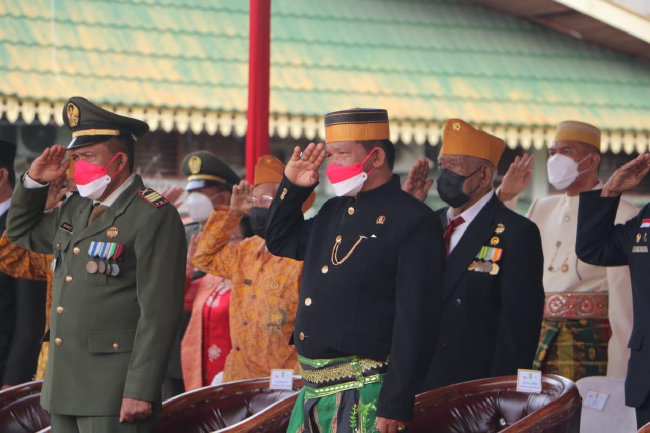 Wakil Ketua DPRD Andi Rusli Ikuti Upacara Peringatan HUT RI Ke-76 di Inhil