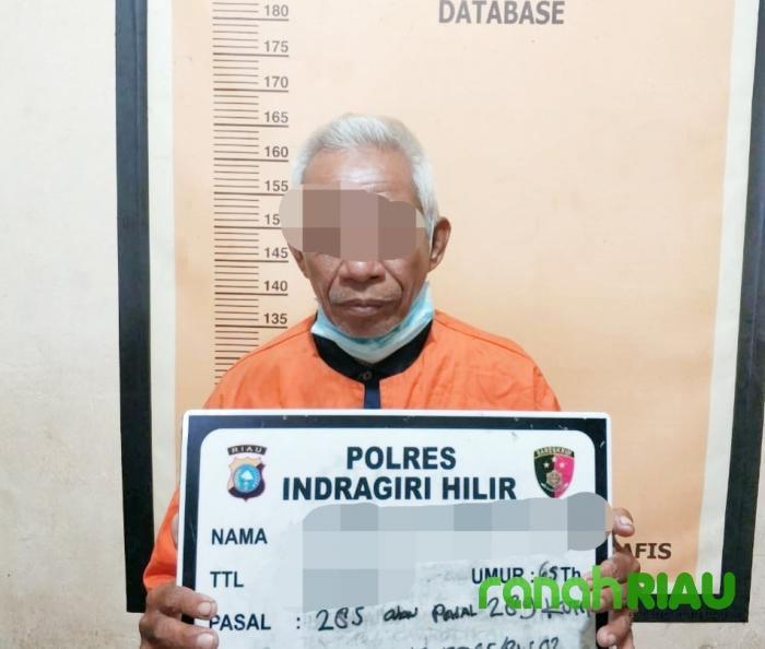 Perkosa Gadis 20 Tahun, Kakek Tua Ditangkap Aparat Polres Inhil