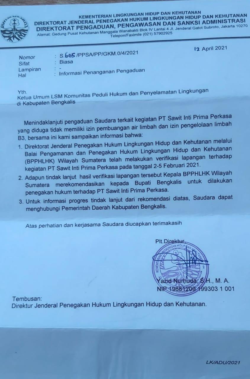 Berikan Sanksi dan Penyegelan Kepada PT. SIPP, Amir : Terima Kasih Bupati Bengkalis