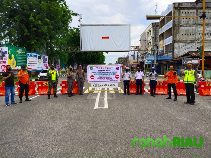 Koramil 01 Bengkalis Kerahkan Babinsa Pantau PSBB di Chek Poin