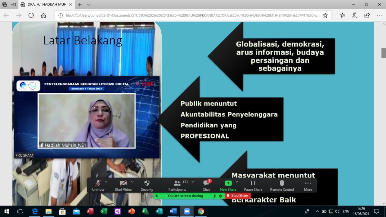 Webinar Literasi Digital Kota Pekanbaru Beri Pencerahan tentang Kebebasan Berekspresi Di Era Digital