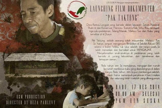Pak Taktung, Tokoh Inspiratif Dunia Pendidikan Riau