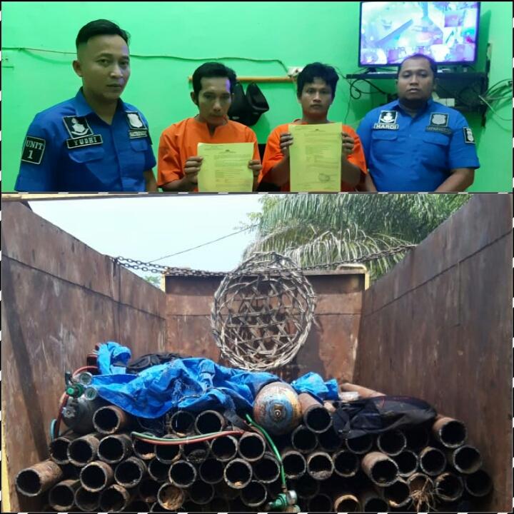 Tim Satreskrim Polres Rohil 3 Ungkap Pelaku Pencurian Besi PT. CPI