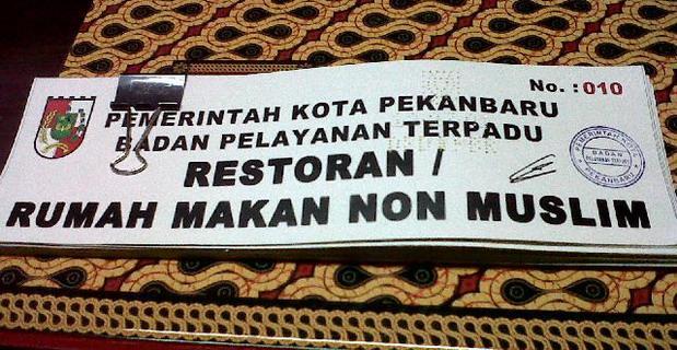 105 Pengusaha Rumah Makan Urus Izin RM Non Muslim