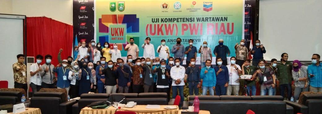 UKW 2021 di Kota Dumai, 6 Anggota PWI Asal Inhil Dinyatakan Kompeten