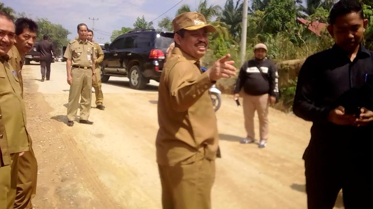Ini Usulan Bupati Bengkalis Atasi Jalan Lingkar Barat Duri
