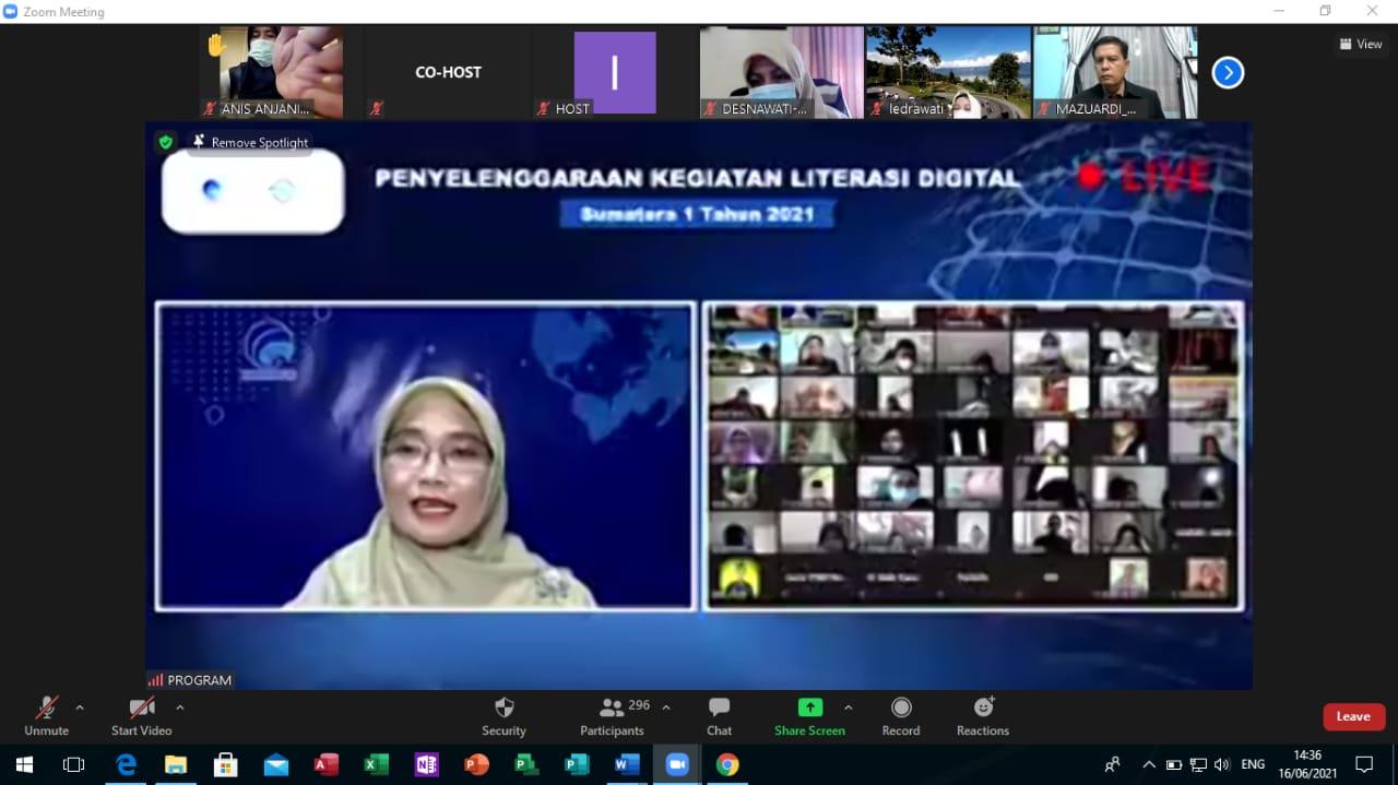 Webinar Literasi Digital Kota Pekanbaru Beri Pencerahan tentang Cerdas Bermedsos Generasi Milenial