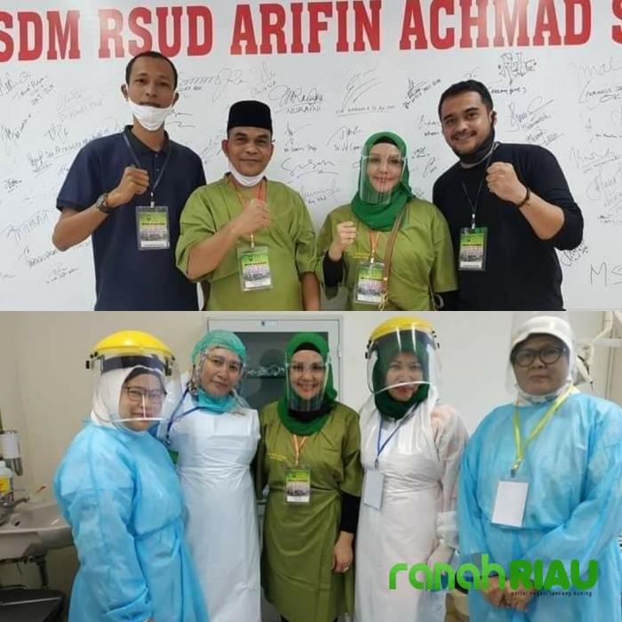 Paslon Kade - Iyeth, Jalani Test Kesehatan di RSUD Arifin Ahmad Pekanbaru
