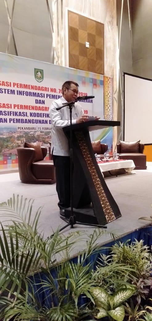 Plt.Bupati Bengkalis Hadiri Sosialisasi Permendagri No 70 dan No 90 Tahun 2019