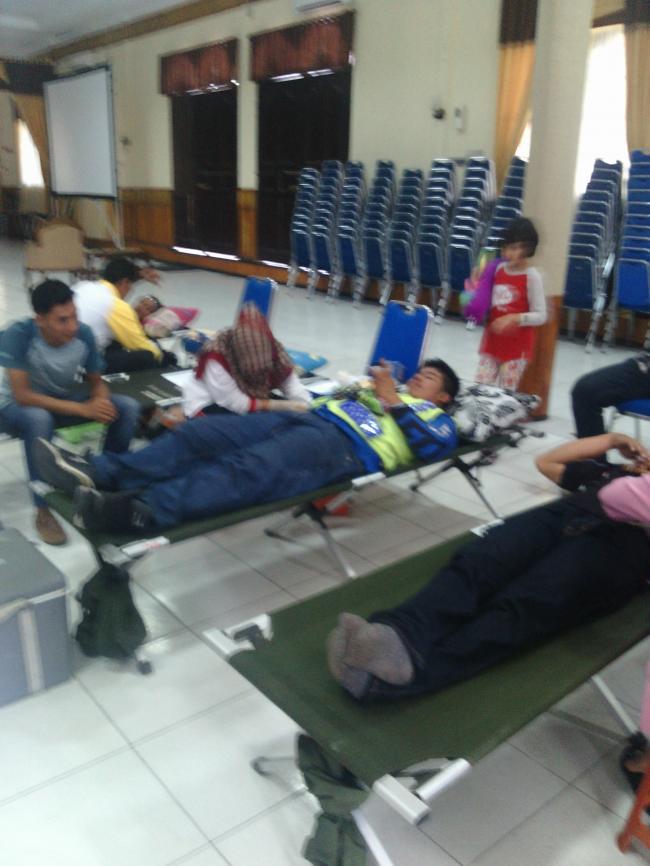 Sukses Donor Darah ke PMI, Bersama Ranah Riau Menggandeng Klub Motor