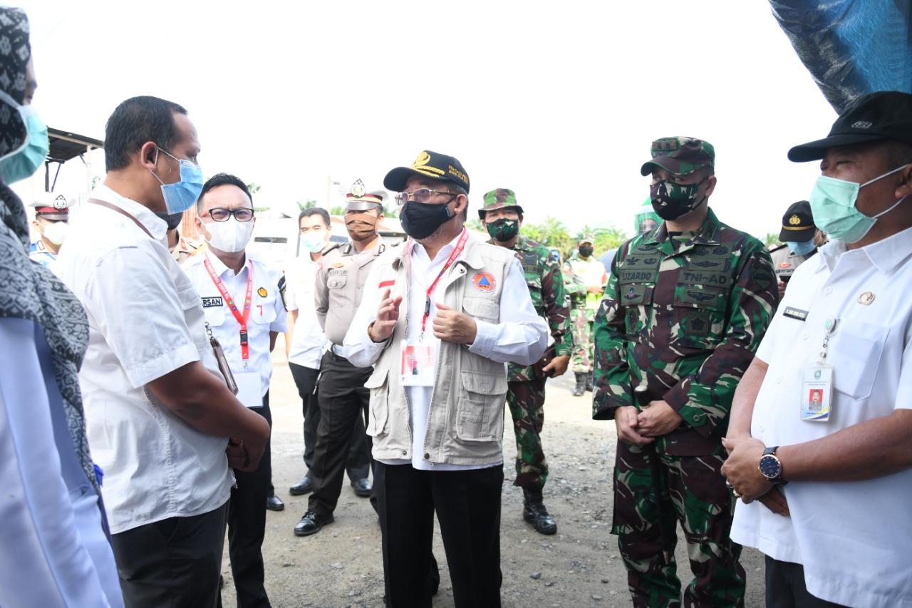 Plh Bupati Bengkalis H Bustami HY Berkunjung dan Sosialisasi Ke Posko Covid-19