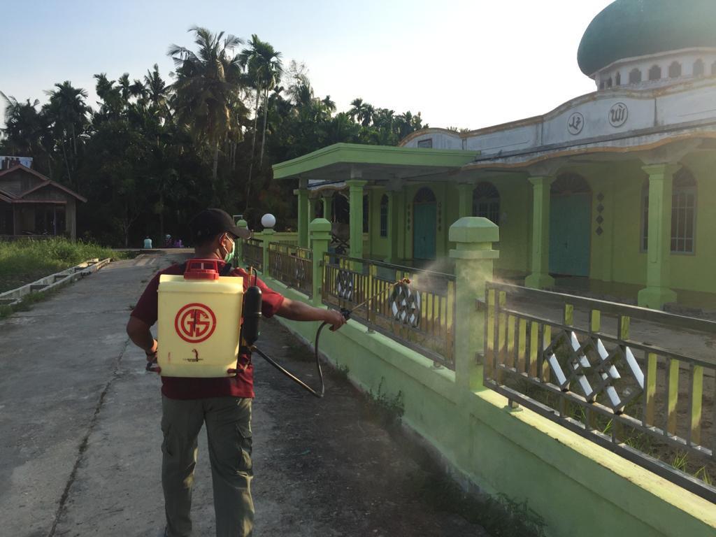Ini Langkah Desa Sungai Baru Kecamatan Gaung Inhil Cegah Covid-19
