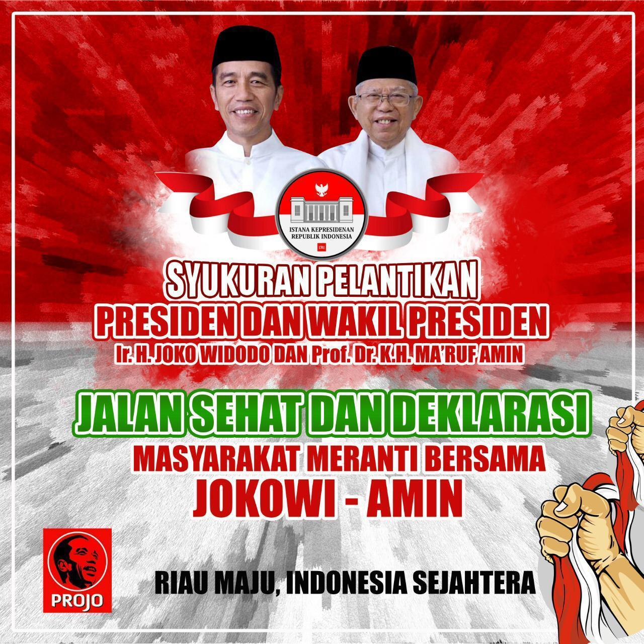 Syukuran PROJO Meranti di hari Pelantikan Presiden Indonesia