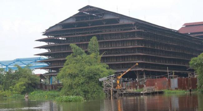 Pabrik Karet Masih Beroperasi di Tengah Kota Pekanbaru