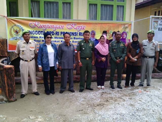 Kunker Anggota DPD RI-Riau, Bantu Warga Korban Banjir Tahunan