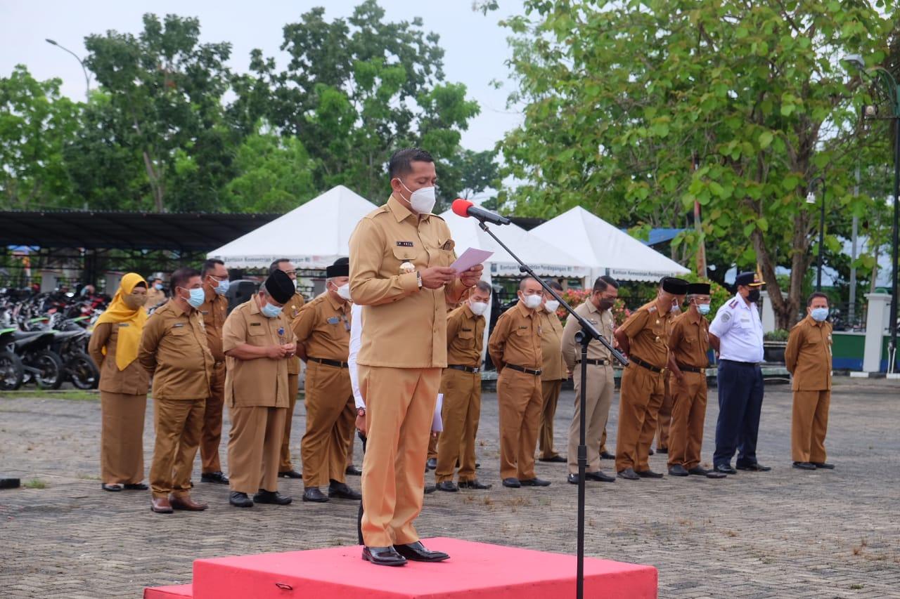 Pimpin Apel Sambut Ramadhan, Puasa jangan Pengaruhi Kinerja ASN dan Pelayanan Masyarakat