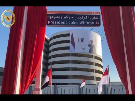 Namanya dijadikan Nama Jalan di Abu Dhabi, berikut Tanggapan Presiden Jokowi