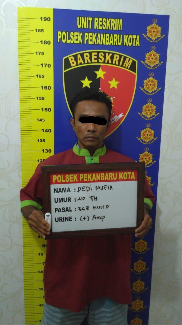 Kabur Setelah Melakukan Aksi, Pelaku Pemerasan di Amankan Polsek Pekanbaru Kota
