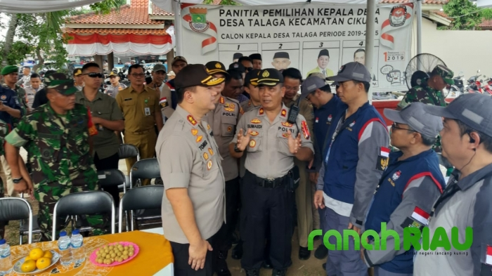 Kapolda Banten Pantau Langsung Pilkades di Kabupaten Tangerang