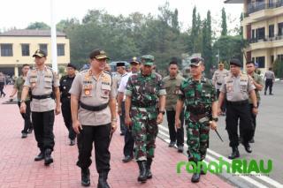 Polda Banten Gelar Apel Kesiapan Pelantikan Presiden dan Wakil Presiden