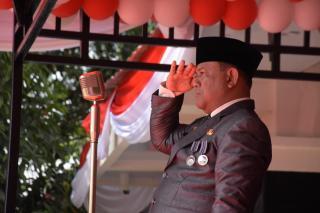 Plh Bupati Kampar Pimpin Langsung Detik-Proklamasi Hut RI ke-74