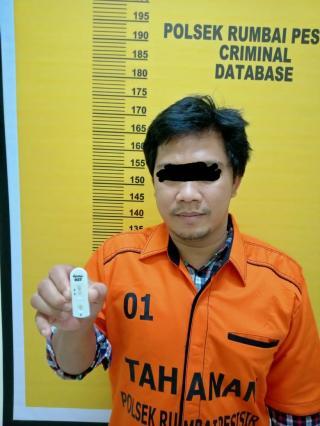 Pelaku Penipuan di Amankan di Polsek Rumbai Pesisir