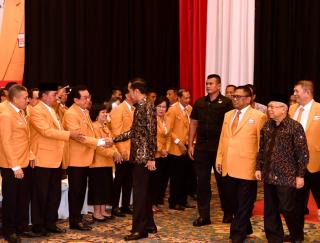 Hadiri pengukuhan DPP partai Hanura, Presiden serukan Pilkada 2020 tanpa SARA dan hoaks