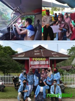 Pantau arus masuk desa sekaligus sosialisasi Protokol kesehatan bersama Polsek dan Puskesmas