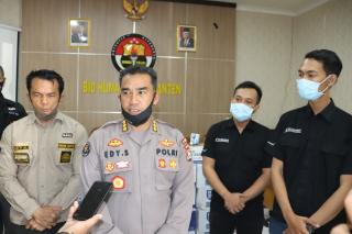 Polda Banten Terima bantuan 18.144 Pcs Hand Sanitizer dari PT Sekawan Kosmetik Wasantara