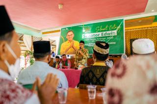 Senator Edwin Pratama Ajak IMK Dukung Program Bupati Zukri