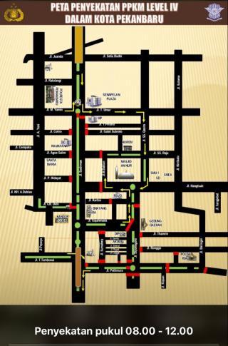 Berlaku sejak Senin, 17 Jalan dalam kota Pekanbaru disekat