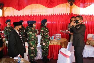 Bersempena Hari Bhayangkara Ke-74, Danlanud RSN Beri Suprise Polda Riau