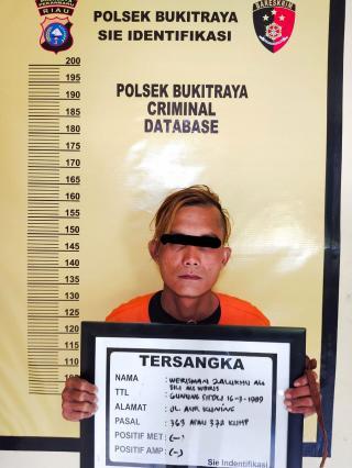 Dipancing Datang ke Pekanbaru Pelaku Pencurian Sepeda Motor Ditangkap Polisi