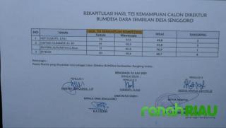 Tidak Merasa Puas, Peserta Calon Direktur BUMDesa Senggoro Layangkan Surat SW